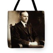 Calvin Coolidge Portrait Tote Bag