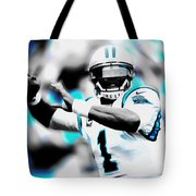 Cam Newton Letting It Fly Tote Bag