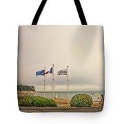 Camaret Sur Mer, Brittany, France, Bicyclist Tote Bag