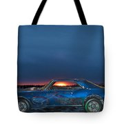 Camaro And Chopper Tote Bag