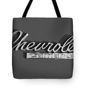 Camaro Logo In Black And White Tote Bag