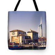Camber Dock, Old Portsmouth Tote Bag