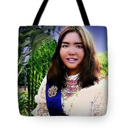 Cambodian Girl In National Dress Tote Bag