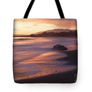 Cambria Coastline With Shimmering Sunset Color Tote Bag