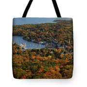 Camden Harbor In The Fall Tote Bag
