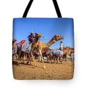 Camel Racing In Dubai Tote Bag