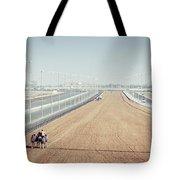 Camel Racing Track In Dubai Tote Bag