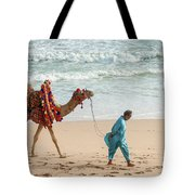 Camel Ride On Beach Tote Bag