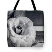 Camellia Back And White Tote Bag