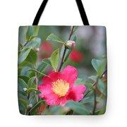 Camellia Sasanqua Yuletide Tote Bag