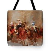 Camels And Desert 14 Tote Bag