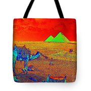 Camels At Giza Tote Bag