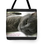 Resting Face Tote Bag by Debbie Cundy
