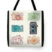 Cameras Of Today And Yesteryear Tote Bag