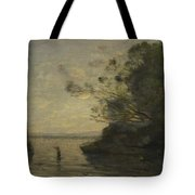 Camille Corot   Evening On The Lake Tote Bag