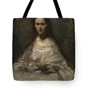 Camille Corot   Sketch Of A Woman In Bridal Dress Tote Bag