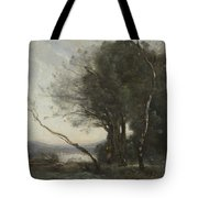 Camille Corot   The Leaning Tree Trunk Tote Bag