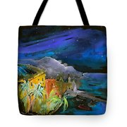 Camogli By Night In Italy Tote Bag