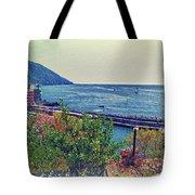 Camogli, Panorama Of The Sea. Tote Bag
