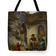 Camp Gypsies In The Ruins Of The Abbey Tote Bag