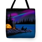 Camping With Dog Tote Bag