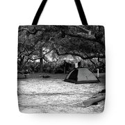 Camp Under Live Oaks Tote Bag