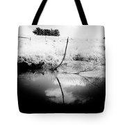 Campaspe River In Black And White Tote Bag