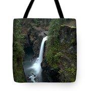 Campbell River Rain Forest Falls Tote Bag