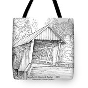 Campbell's Covered Bridge Tote Bag