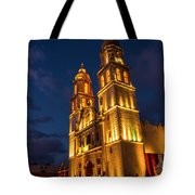 Campeche Cathedral At Evening Tote Bag