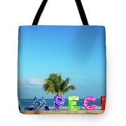 Campeche Sign And Sea View Tote Bag