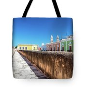 Campeche Wall And City View Tote Bag