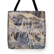 Campers And Eroded Cliffs At Ricardo Tote Bag
