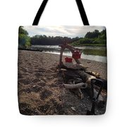 Campfire Cooking Soon - Indiana Canoeing Tote Bag