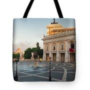 Campidoglio Square In Rome Tote Bag