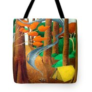 Camping - Through The Forest Series Tote Bag