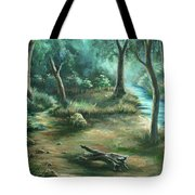 Camping At Figueroa Mountains Tote Bag