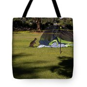 Camping With Swamp Wallaby Tote Bag