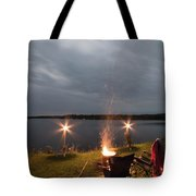 Campsite Lakeside Tote Bag
