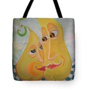 Can I Just Stay Near You?  Pear Love Tote Bag