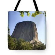 Can You Find The Climbers On Devils Tower Wyoming -1 Tote Bag