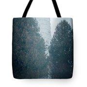 Cana Island Lighthouse Wisconsin Painterly Tote Bag