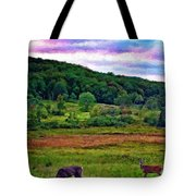 Canaan Valley Evening Impasto Tote Bag