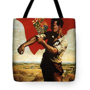 Canada - Canadian Pacific Railway - Flag - Retro Travel Poster - Vintage Poster Tote Bag