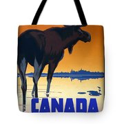 Canada For Big Game Travel Canadian Pacific - Moose - Retro Travel Poster - Vintage Poster Tote Bag