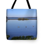 Canada Geese On Yellowstone Lake Tote Bag