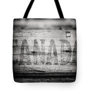 Canada In Black And White Tote Bag
