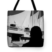 Canada Place Wings Silhouette Tote Bag