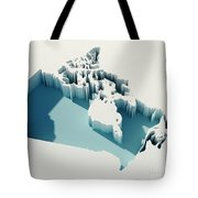 Canada Simple Intrusion Map 3d Render Tote Bag