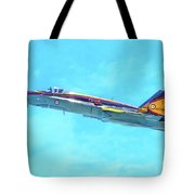 Canadian Armed Forces Cf-18 Hornet Tote Bag
